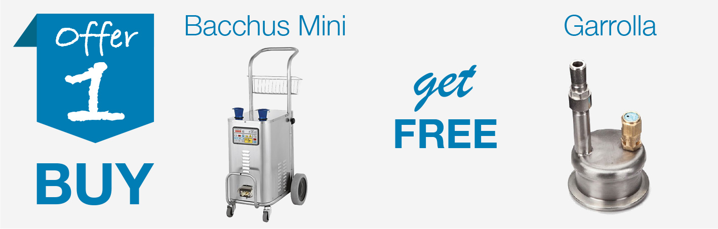 Offer 1 - Buy Bacchus Mini receive free Garolla Connection