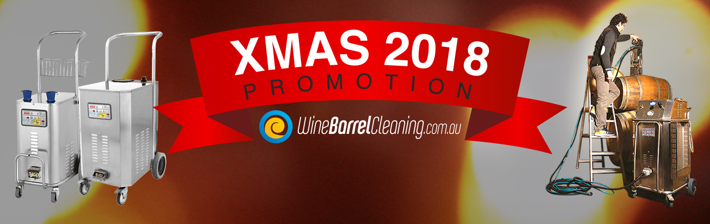 Xmas 2018 promotion with Wine Barrel Cleaning