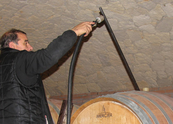 a long steam diffusion rod makes it easy to apply steam into the wine barrel, for effective treatment