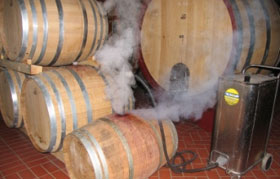 use steam vapour cleaning technology in wine barrel cleaning