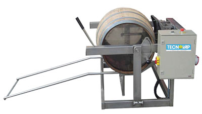 Semi automatic wine barrel cleaner 1
